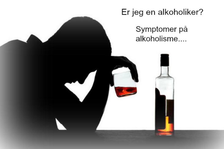 synlige tegn på alkoholisme